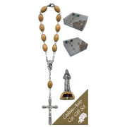 St.Francis Car Statue SCBMC17 with Decade Rosary RDO28