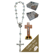 Crucifix Car Statue SCBMC22 with Decade Rosary RD850-15