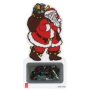 Marcador de Papá Noel con un rosario pulsera de navidad