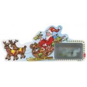 """Signet de Père Noël  avec un bracelet chapelet noël cm.12x6 - 4 3/4 """"x 2 1/4"""""""