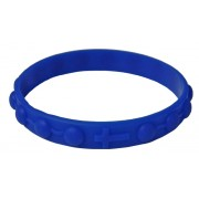 Silicone Elastic Rosary Bracelet in Blue