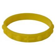 Pulsera rosario hecho de silicona elástico en el color amarillo