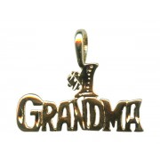Number One Grandma Pendent Gold Plated