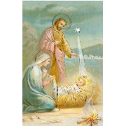 Nativity Holy Card with Gold Foil
