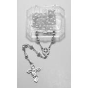Imitation Pearl Rosary Boxed