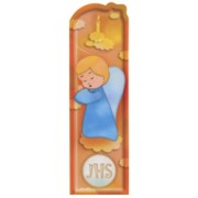 """Guardian Angel and Candle PVC Bookmark cm.5x15 - 2""""x6"""""""