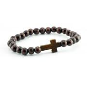 Wood Elastic Bracelet for Men (Large)