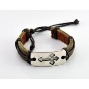 Adjustable Leather Bracelet - Natural Colour