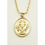 Communion Gold Plated Medal + Chain