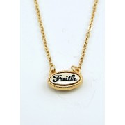 Gold Plated Faith Pendant Necklace