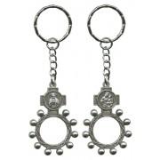 SHJ and Mount Carmel Basco Rosary Ring Keychain