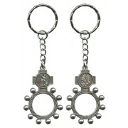 St.Michael and the Guardian Angel Rosary Ring Keychain