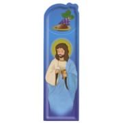 """Communion Blue PVC Bookmark cm.5x15 - 2""""x6"""""""