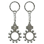 Divine Mercy and Jesus I Trust in You Basco Rosary Ring Keychain