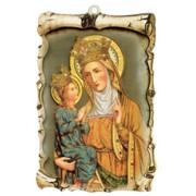 """St.Anne De Beaupre Raised Scroll Plaque cm.10x15 - 4""""x6"""""""