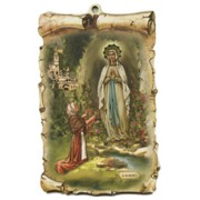 "Lourdes Scroll Plaque cm.10x15 - 4""x6"""