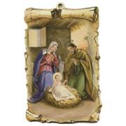 "Nativity Scroll Plaque cm.10x15 - 4""x6"""