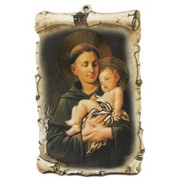 "St.Anthony Scroll Plaque cm.10x15 - 4""x6"""