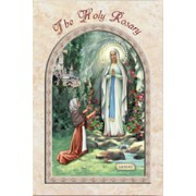 "Lourdes/ The Holy Rosary Book English Text cm.9.5x15.5 - 3 3/4""x 6"""