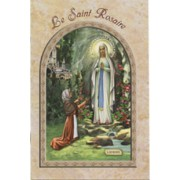 "Lourdes/ The Holy Rosary Book French Text cm.9.5x15.5 - 3 3/4""x 6"""