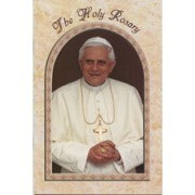 "Pope Benedict/ The Holy Rosary Book English Text cm.9.5x15.5 - 3 3/4""x 6"""