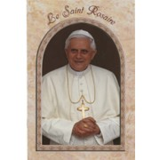"Pope Benedict/ The Holy Rosary Book French Text cm.9.5x15.5 - 3 3/4""x 6"""