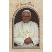"Pope Benedict/ The Holy Rosary Book Italian Text cm.9.5x15.5 - 3 3/4""x 6"""