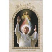 "Pope John Paul II The Holy Rosary Book Italian Text cm.9.5x15.5 - 3 3/4""x 6"""