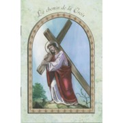 "Jesus and Cross/ The Holy Rosary Book French Text cm.9.5x15.5 - 3 3/4""x 6"""