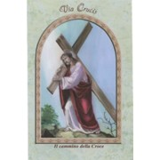 "Jesus and Cross/ The Holy Rosary Book Italian Text cm.9.5x15.5 - 3 3/4""x 6"""