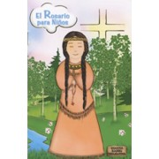 "Kateri Tekakwitha/ The Holy Rosary Book Spanish Text cm.9.5x15.5 - 3 3/4""x6"""