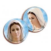 """Medugorje 3D Bi-Dimensional Round Bookmark cm.7 - 2 3/4"""""""