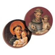 "St.Anthony 3D Bi-Dimensional Round Bookmark cm.7 - 2 3/4"""