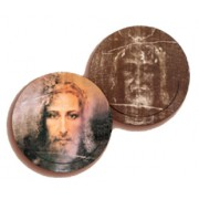 "Shroud 3D Bi-Dimensional Round Bookmark cm.7 - 2 3/4"""