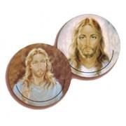 """Jesus 3D Bi-Dimensional Round Bookmark cm.7 - 2 3/4"""""""