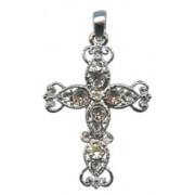 "Swarovski Crystal Cross cm.5 - 2"""