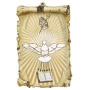 "Holy Spirit Scroll Plaque cm.10x15 - 4""x6"""