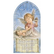 "Guardian Angel/ Prayer Plaque English cm.10x20 - 4""x8"""