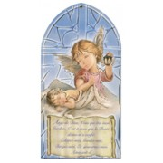 "Guardian Angel/ Prayer Plaque French cm.10x20 - 4""x8"""