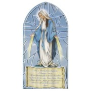 "Miraculous/ Hail Mary Prayer Plaque Italian cm.10x20 - 4""x8"""