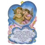 "Hail Mary Prayer Plaque cm.10x15 - 4"" x 6"" English Text"