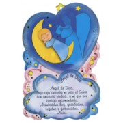 "Prayer to Guardian Angel Plaque cm.10x15 - 4"" x 6"" Spanish Text"