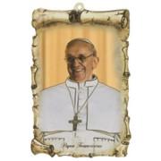 "Pope Francis Scroll Plaque cm.10x15 - 4""x6"""