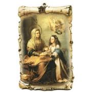 "St.Anne Scroll Plaque cm.10x15 - 4""x6"""