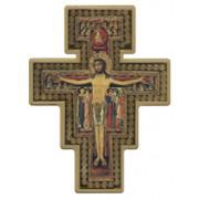 "Saint Damian Cross Laquered Gold cm.14x19 - 5 1/2""x 7 1/2"""