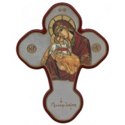 """Mother and Child Solid Cross Red/Gold cm.20x27 - 8""""x10 1/2"""""""