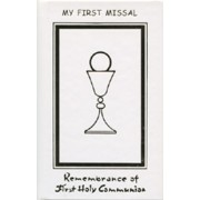 Remembrance of First Holy Communion Book Symbol Chalice Hardcover