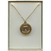 Communion Pendent Chalice and Chain Gold Plated